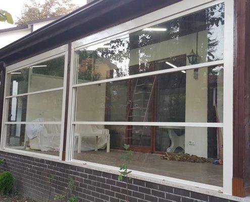 Inchidere terasa cu sticla tip ghilotina